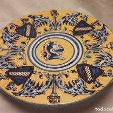 Antigüedades: PRECIOSO PLATO DE PORCELANA HECHO Y PINTADO A MANO 26CM. Lote 151952634