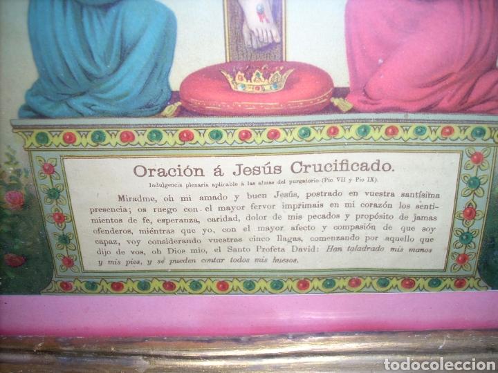 Antigüedades: Antigua Conucopia de Madera de oro fino 60 x 39 Muy buen estado - Foto 7 - 151962342