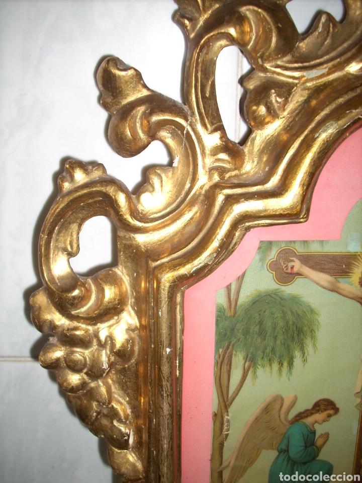 Antigüedades: Antigua Conucopia de Madera de oro fino 60 x 39 Muy buen estado - Foto 10 - 151962342