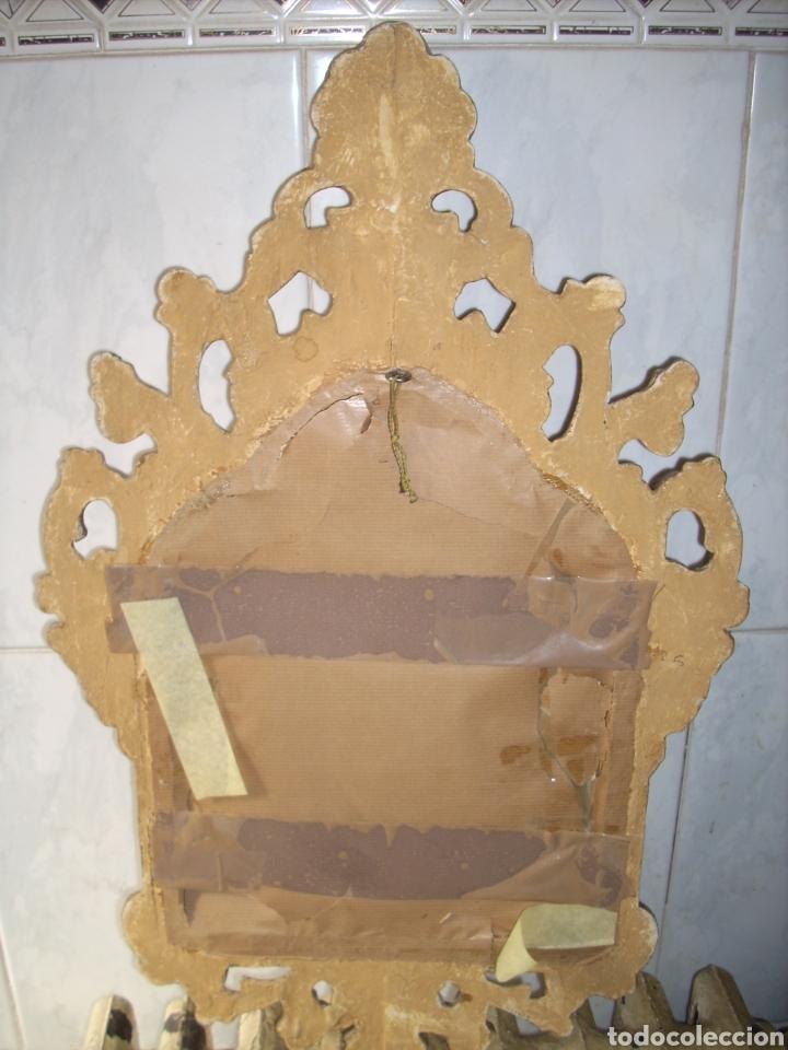 Antigüedades: Antigua Conucopia de Madera de oro fino 60 x 39 Muy buen estado - Foto 11 - 151962342