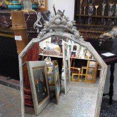 Antigüedades: ESPEJO ITALIANO COPETE FLORES. Lote 151972598