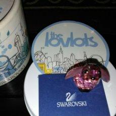 Antigüedades: SWAROVSKI BELLA THE RABITT LOVLOTS CITY PARK. CRISTAL ROSA.FIGURA DE COLECCIÓN.CERTIFICADO.. Lote 151976582