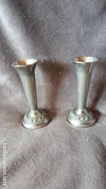 ANTIGUOS VELEROS - IANTHE - SILVER PLATED OF ENGLAND (Antigüedades - Hogar y Decoración - Portavelas Antiguas)