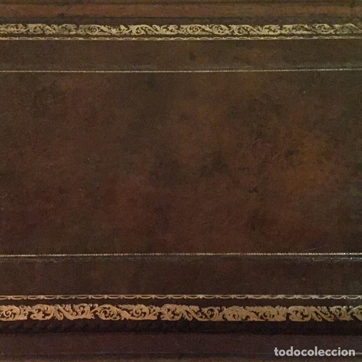 Antigüedades: Antigua mesa de despacho o decorativa de madera y abatible. - Foto 5 - 151983557
