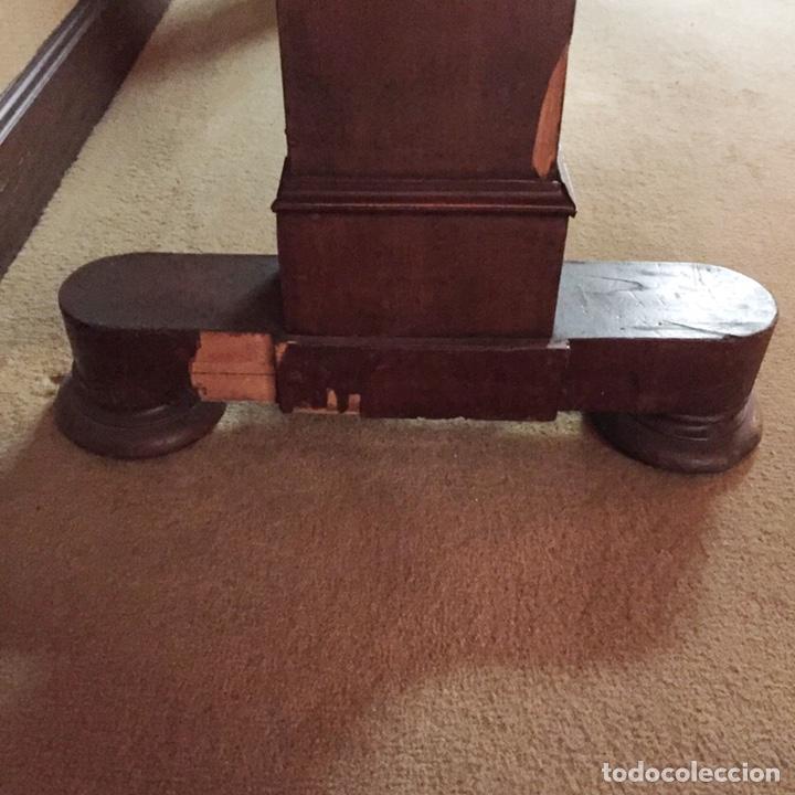 Antigüedades: Antigua mesa de despacho o decorativa de madera y abatible. - Foto 6 - 151983557