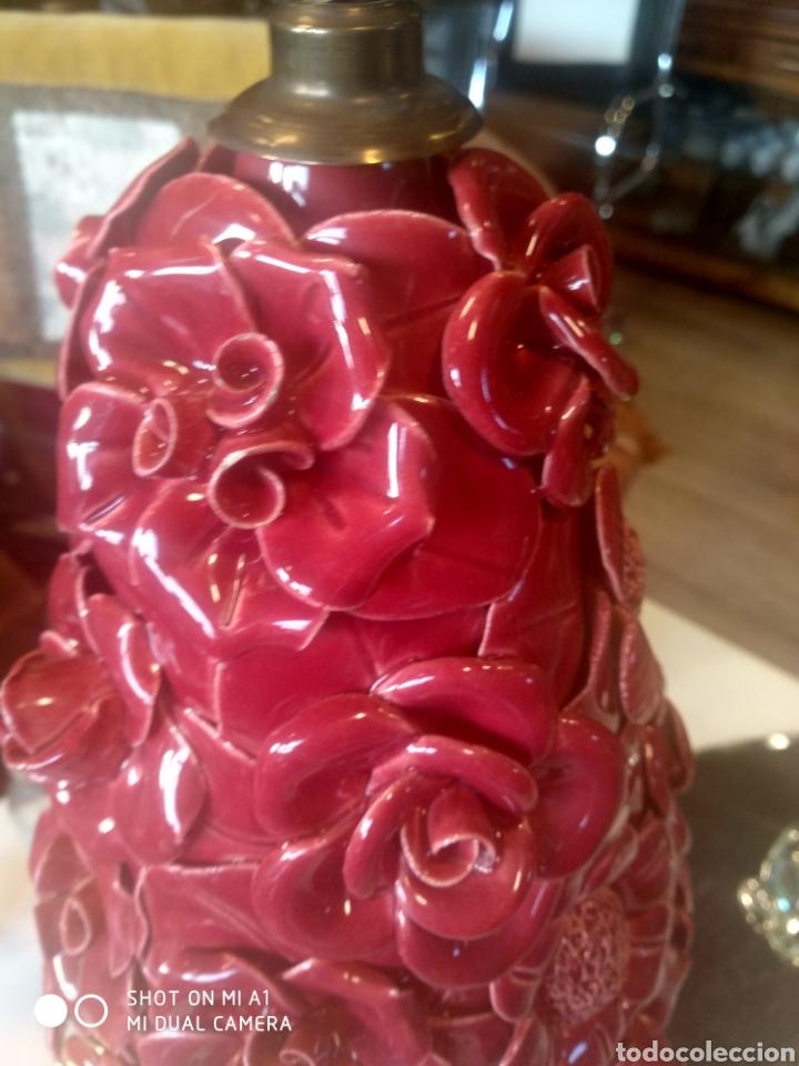 Antigüedades: Pareja de lamparas manises - Foto 6 - 116219010