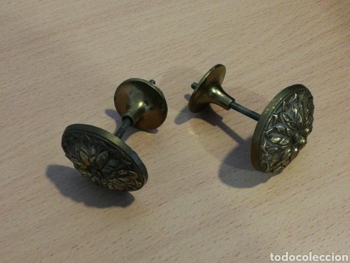 POMOS TIRADORES DE BRONCE (Antigüedades - Varios)