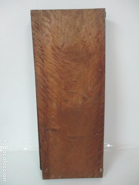 Antigüedades: Pareja de Antiguas Puertas de Armario - Madera de Ribera - Herrajes Originales - S. XVII - Foto 13 - 152014206