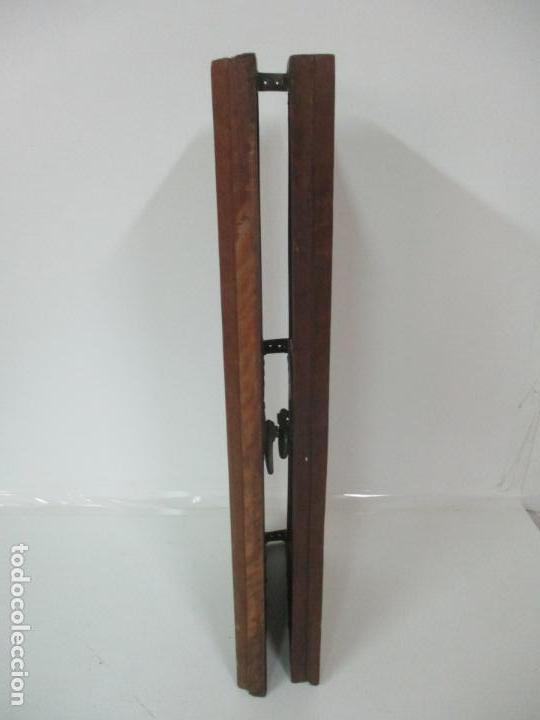 Antigüedades: Pareja de Antiguas Puertas de Armario - Madera de Ribera - Herrajes Originales - S. XVII - Foto 14 - 152014206