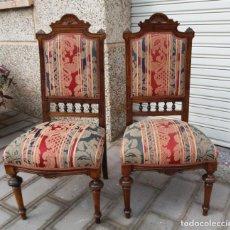 Antigüedades: LOTE DE 2 ANTIGUAS SILLAS ISABELINAS. ( SOLO RECOGIDA ). Lote 152021174
