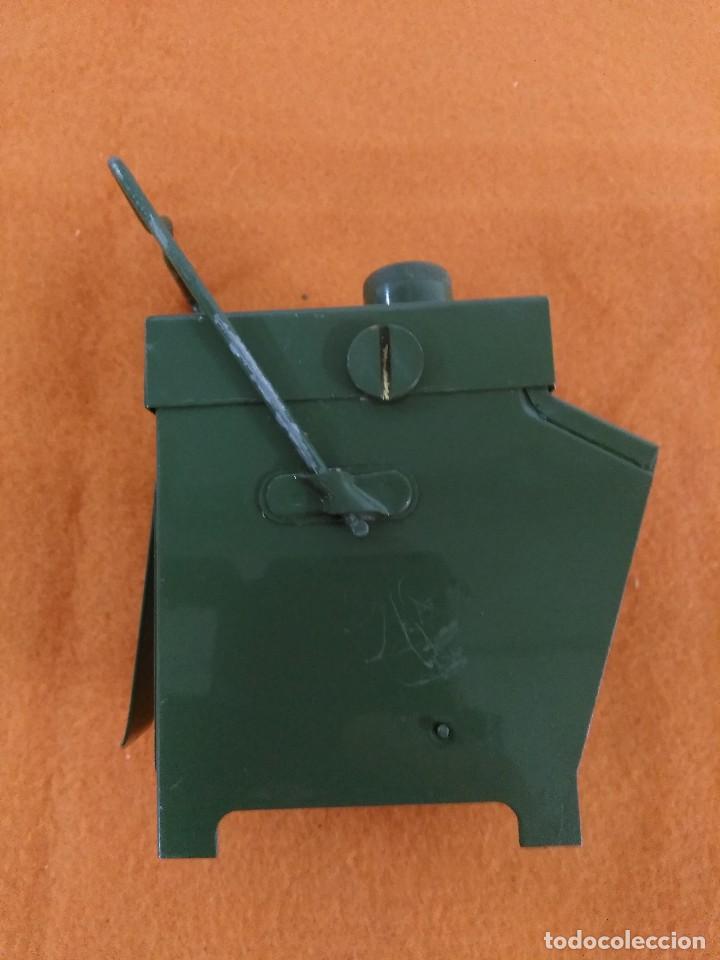 Antigüedades: farol ferroviario de tren faro con baterias INGLES - Foto 4 - 176678288