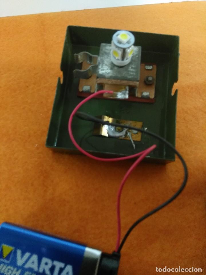 Antigüedades: farol ferroviario de tren faro con baterias INGLES - Foto 8 - 176678288