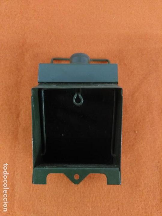 FAROL FERROVIARIO DE TREN FARO CON BATERIAS INGLES (Antigüedades - Iluminación - Faroles Antiguos)