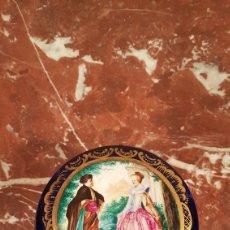 Antiquitäten - CAJA JOYERO DE PORCELANA PINTADA A MANO DE SALVADOR MALLOL. PRIMERA ETAPA SIGLO XX. - 152029017