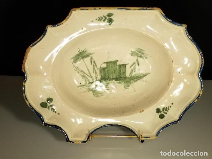 BACÍA DE BARBERO. RIBESALBES. FINALES SIGLO XVIII-PRINCIPIOS SIGLO XIX. (Antigüedades - Porcelanas y Cerámicas - Ribesalbes)