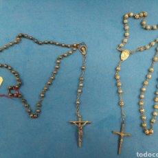 Antigüedades: DOS ROSARIOS , AÑOS 1950-60. Lote 152033982