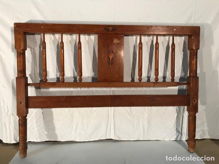 CABEZAL CAMA ANTIGUO (Antigüedades - Muebles Antiguos - Camas Antiguas)