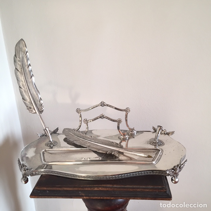 Antigüedades: Conjunto de escritorio de plata - Foto 3 - 152038896