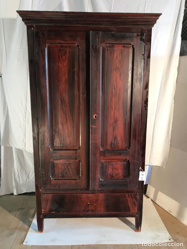 ARMARIO ANTIGUO COLOR CAOBA (Antigüedades - Muebles Antiguos - Armarios Antiguos)