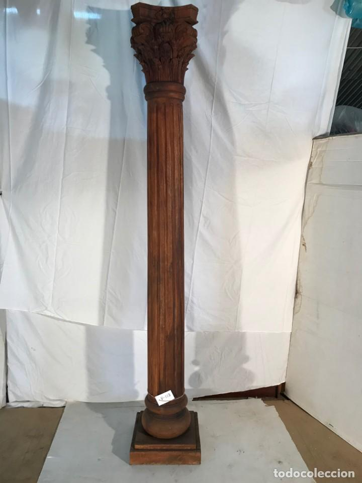 Antigüedades: Columna madera maciza - Foto 2 - 152045602