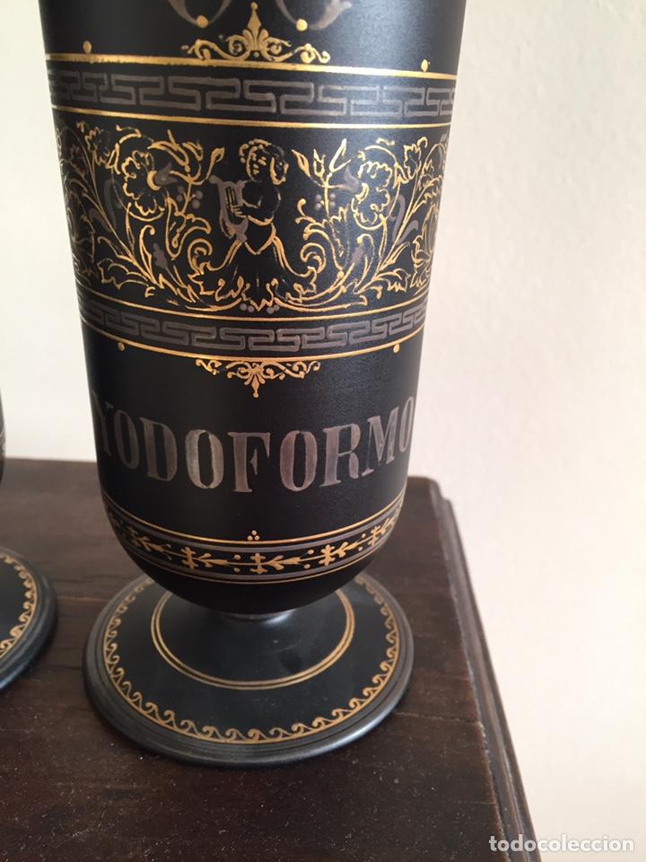 Antigüedades: Botes de farmacia muy especiales - Foto 2 - 152051914