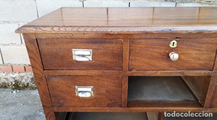 Antigüedades: Mostrador antiguo estilo art decó. Mueble televisión aparador antiguo estilo industrial vintage. - Foto 6 - 152056958