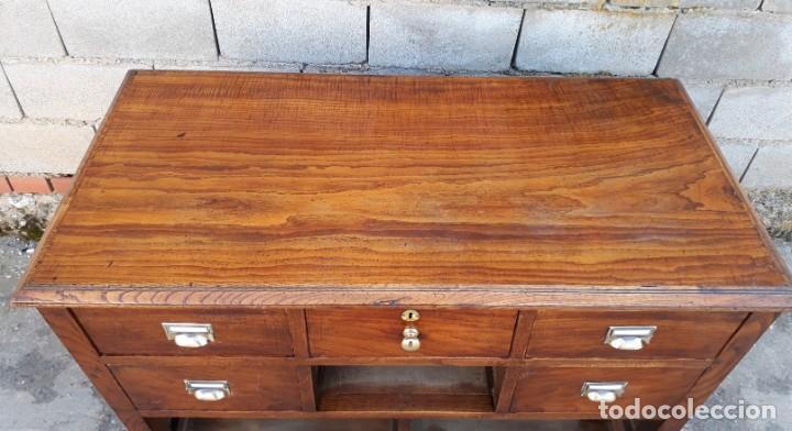 Antigüedades: Mostrador antiguo estilo art decó. Mueble televisión aparador antiguo estilo industrial vintage. - Foto 7 - 152056958