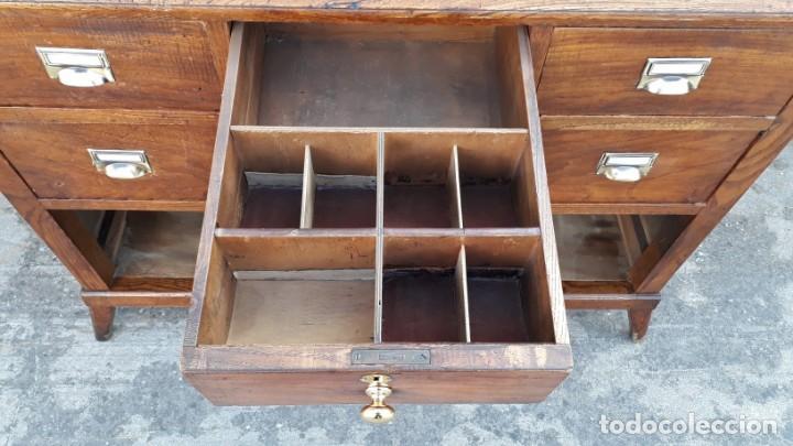 Antigüedades: Mostrador antiguo estilo art decó. Mueble televisión aparador antiguo estilo industrial vintage. - Foto 8 - 152056958