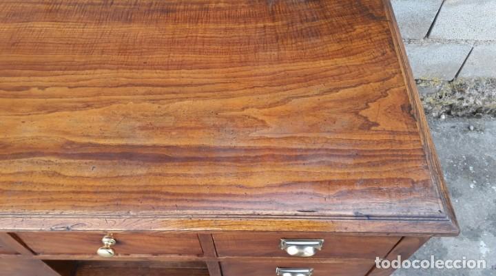 Antigüedades: Mostrador antiguo estilo art decó. Mueble televisión aparador antiguo estilo industrial vintage. - Foto 14 - 152056958