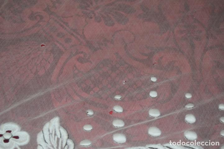 Antigüedades: frontal de altar en tul bordado a mano - Foto 5 - 152057598
