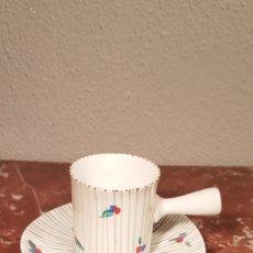 Antigüedades: TAZA DE CAFE Y PLATO DE CASTRO SARGADELOS DOLMEN. AÑOS 70. Lote 152059980