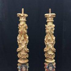 Antigüedades: PAREJA DE COLUMNAS BARROCAS ESPAÑOLAS. Lote 152143622