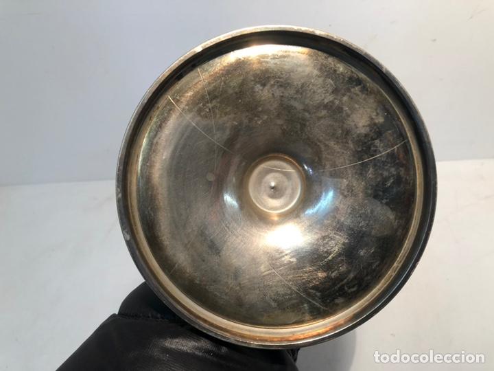 Antigüedades: COPON DE METAL PLATEADO ANTIGUO. - Foto 6 - 152148938