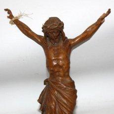 Antigüedades: CRISTO EN MADERA TALLADA DEL SIGLO XIX. Lote 152149818
