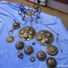 Antigüedades: PIEZAS DE BRONCE DE LAMPARA. Lote 152152838