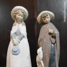 Antigüedades: PROMOCION NAO FILIAL LLADRO DOS NIÑAS 29-27 CMS. Lote 152157134