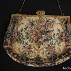 Antigüedades: BOLSO DE FIESTA BORDADO FRANCES FINALES SIGLO XIX. Lote 152162098