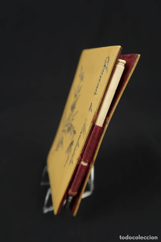 Antigüedades: Antiguo Tarjetero anotador Francia Finales siglo XIX - Foto 2 - 152168006