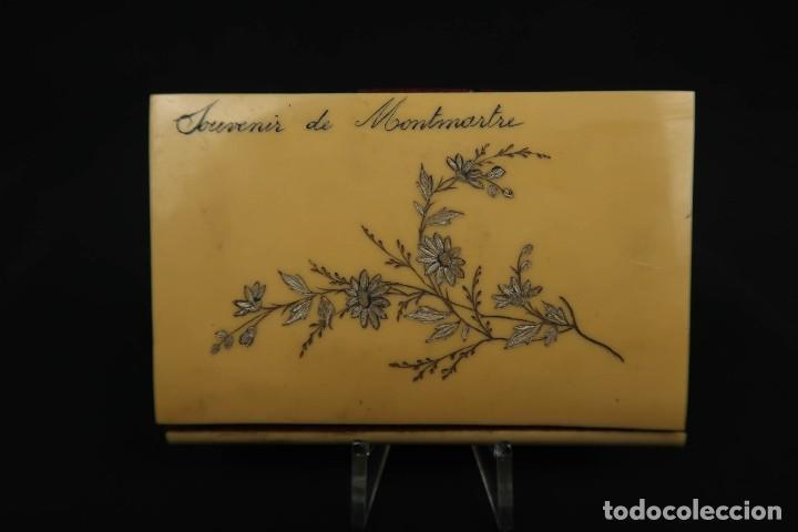 Antigüedades: Antiguo Tarjetero anotador Francia Finales siglo XIX - Foto 3 - 152168006