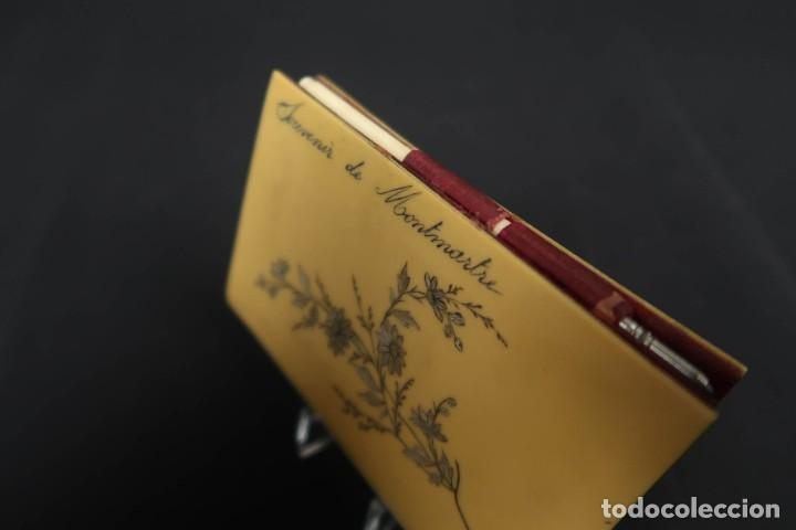 Antigüedades: Antiguo Tarjetero anotador Francia Finales siglo XIX - Foto 4 - 152168006