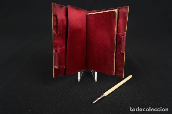 Antigüedades: Antiguo Tarjetero anotador Francia Finales siglo XIX - Foto 5 - 152168006