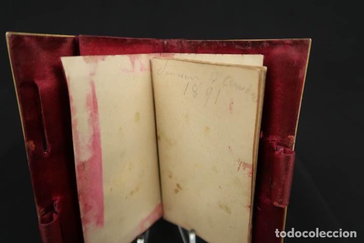 Antigüedades: Antiguo Tarjetero anotador Francia Finales siglo XIX - Foto 6 - 152168006