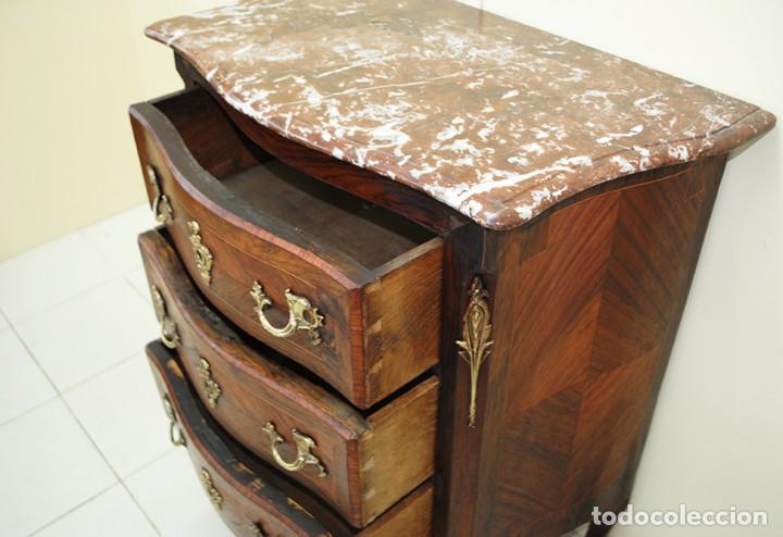 Antigüedades: CÓMODA ANTIGUA DE MADERA ESTILO LUIS XV - Foto 6 - 152175406