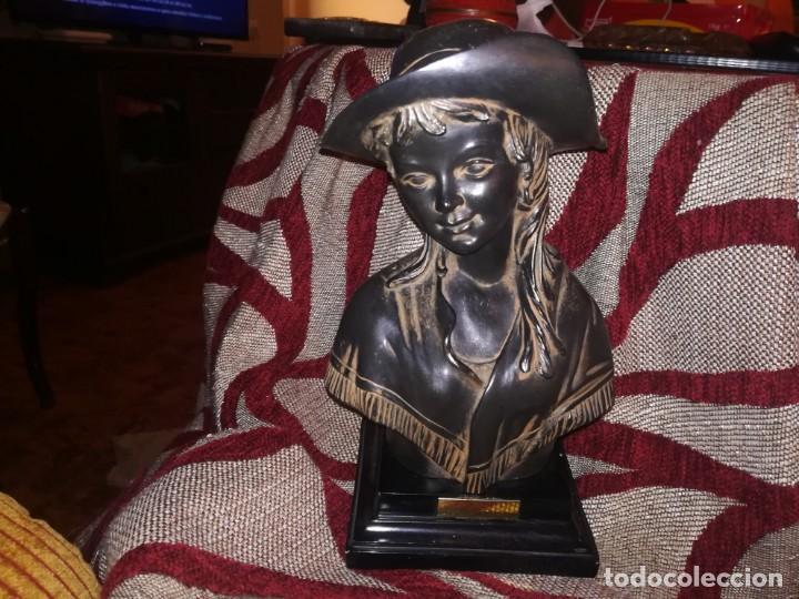 Antigüedades: Precioso Busto de mujer con placa c. Orrico miren fotos - Foto 7 - 152176014