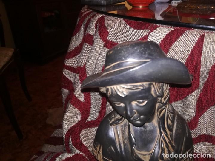 Antigüedades: Precioso Busto de mujer con placa c. Orrico miren fotos - Foto 8 - 152176014