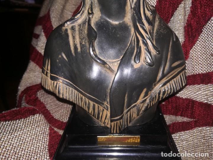 Antigüedades: Precioso Busto de mujer con placa c. Orrico miren fotos - Foto 13 - 152176014