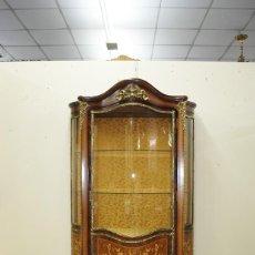 Antigüedades: VITRINA ANTIGUA LUIS XV MARQUETERÍA Y BRONCE. Lote 152176942