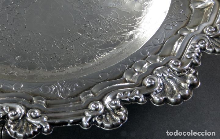 Antigüedades: Centro de mesa en plata española siglo XX - Foto 4 - 152179874