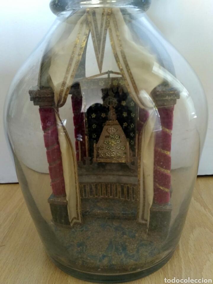 Antigüedades: Redoma, garrafa de cristal de La Granja, periodo Historicista 1883 - pp sg. XX. - Foto 2 - 152181170
