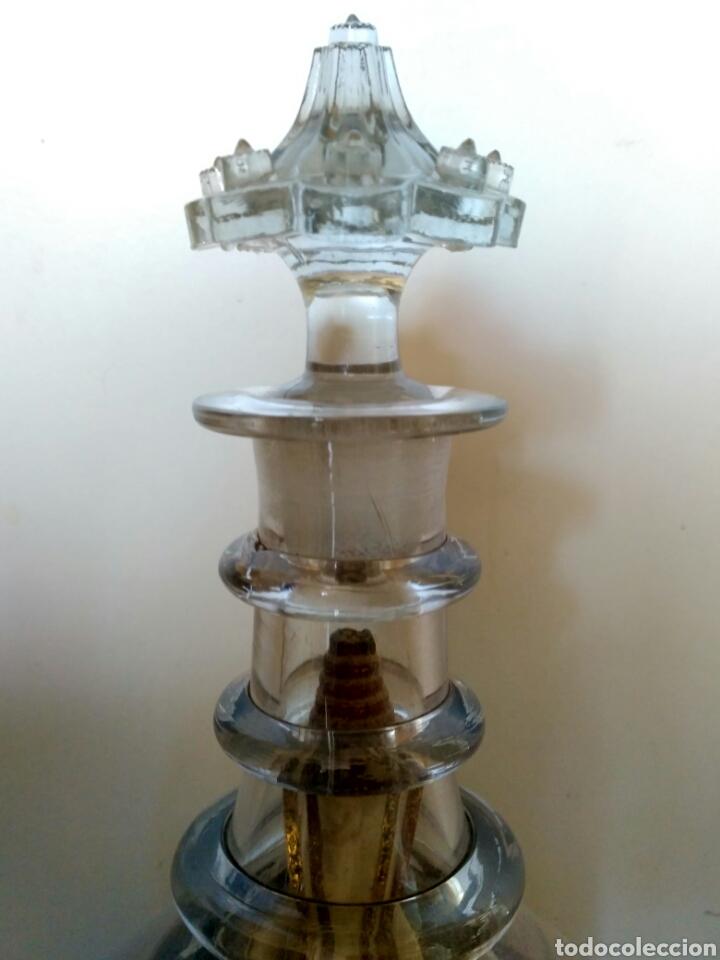 Antigüedades: Redoma, garrafa de cristal de La Granja, periodo Historicista 1883 - pp sg. XX. - Foto 3 - 152181170